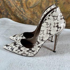 REISS Snakeskin Stiletto Heels Pointed Toe Sexy 10